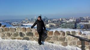 Aussicht Vilnius von der Oberen Burg