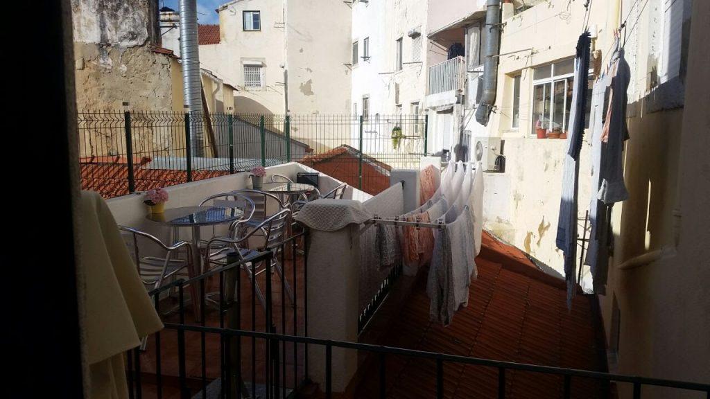 Welcome Guest House Lissabon Dachterrasse