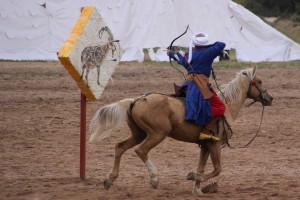 Bogenschütze Nomadenspiele Kirgistan