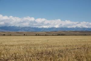 Endlose Landschaften in Kirgistan