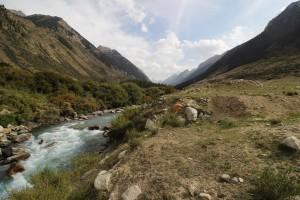 Gebirgsbach Kirgistan