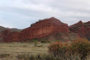 Roter Sandstein Kirgistan
