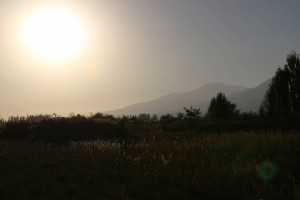 Sonnenuntergang in Tscholponata