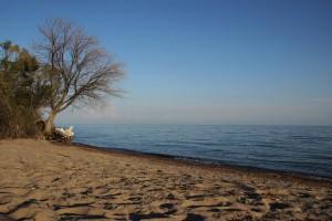 Strand am Issykkul beim Hotel Babylon