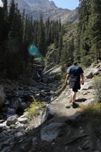 Wandern zum Wasserfall